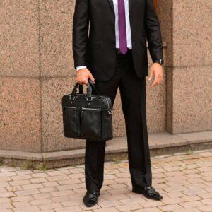 Удобный черный мужской портфель деловой BRL-34109 226642