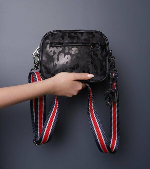 Солидная серая женская сумка через плечо FBR-2320