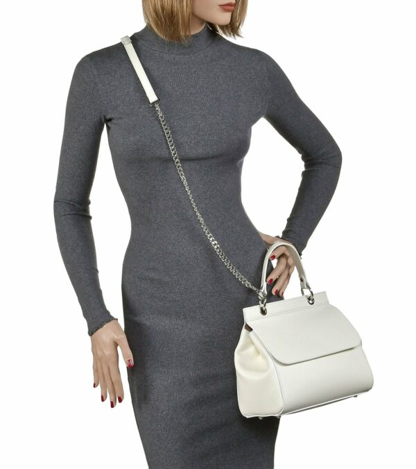 Деловая белая женская сумка FBR-1956