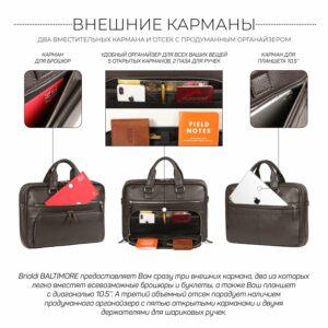 Солидный коричневый мужской портфель деловой BRL-44549 226704