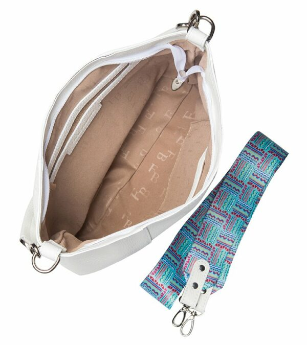 Вместительная белая женская сумка FBR-2313