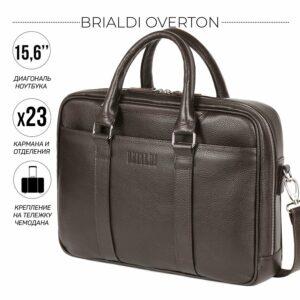 Функциональный коричневый мужской портфель деловой BRL-44556