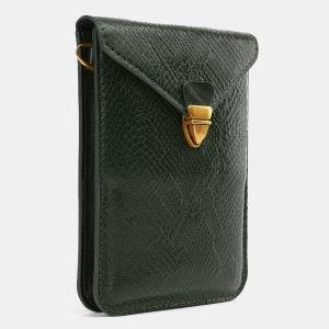 Вместительный зеленый женский клатч ATS-3987 225556