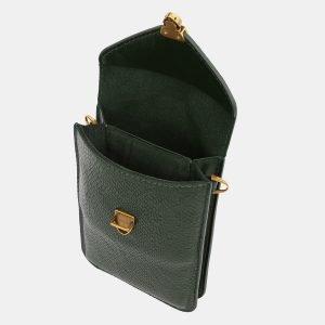 Вместительный зеленый женский клатч ATS-3987 225557