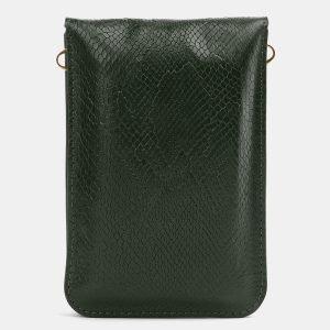 Вместительный зеленый женский клатч ATS-3987 225558
