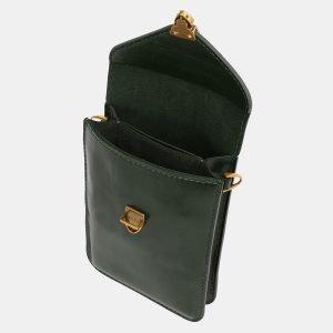 Деловой зеленый женский клатч ATS-3988 225552