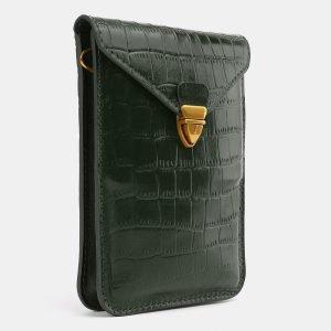 Стильный зеленый женский клатч ATS-3989 225546