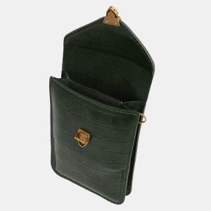 Стильный зеленый женский клатч ATS-3989 225548