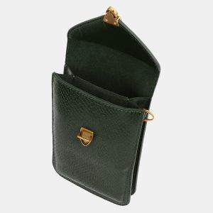 Деловой зеленый женский клатч ATS-3990 225543
