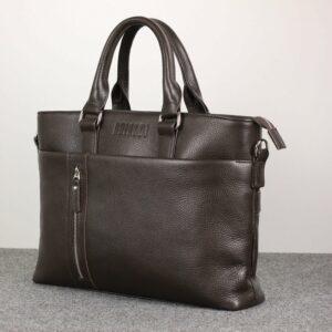 Стильная коричневая мужская классическая сумка BRL-44559 226792
