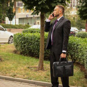 Удобный черный мужской портфель деловой BRL-34109 226634