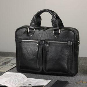 Удобный черный мужской портфель деловой BRL-34109 226626