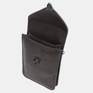Кожаный серый женский клатч ATS-3985 225568