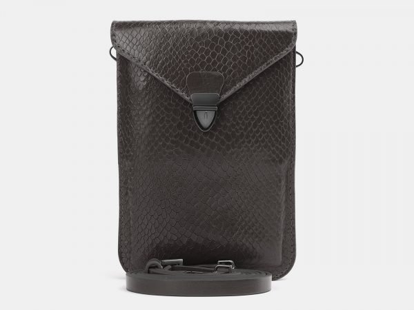 Уникальный серый женский клатч ATS-3986