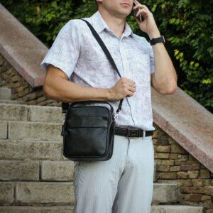 Деловая черная мужская сумка через плечо BRL-34399 229944