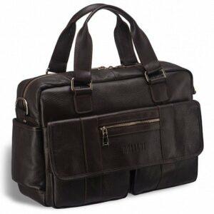 Стильный коричневый мужской портфель деловой BRL-15166