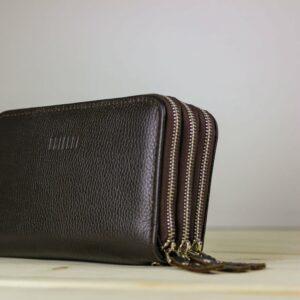 Удобный коричневый мужской портмоне клатч BRL-23059 228244