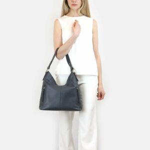Удобная синяя женская сумка через плечо BRL-47454 229847