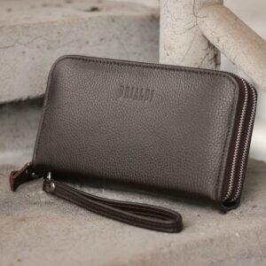 Неповторимый коричневый мужской портмоне клатч BRL-44371 229168
