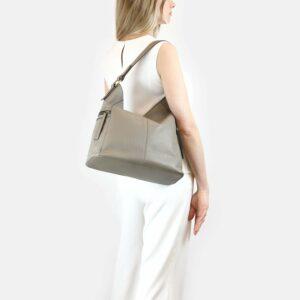Функциональная серая женская сумка через плечо BRL-47451 229808