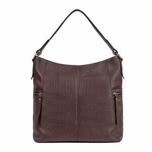 Деловая бордовая женская сумка через плечо BRL-47450 229787