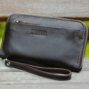 Кожаный коричневый мужской портмоне клатч BRL-28614 228622
