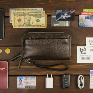 Стильный коричневый мужской портмоне клатч BRL-32922 228776