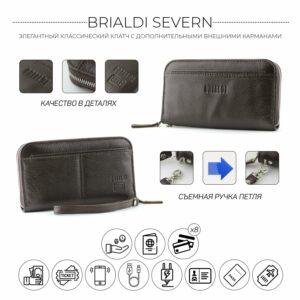 Деловой коричневый мужской портмоне клатч BRL-28615 228627