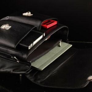 Стильный черный мужской портфель классический BRL-912 227497
