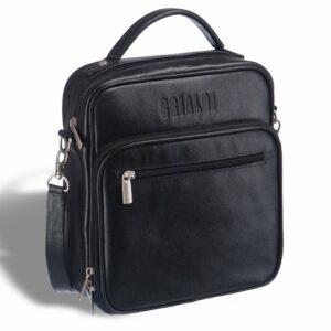 Удобная черная мужская сумка через плечо BRL-12935