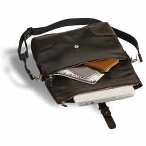 Вместительная черная мужская сумка трансформер через плечо BRL-3516 227664