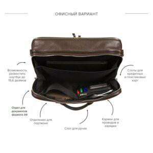 Функциональная коричневая дорожная сумка портфель BRL-23117 228379