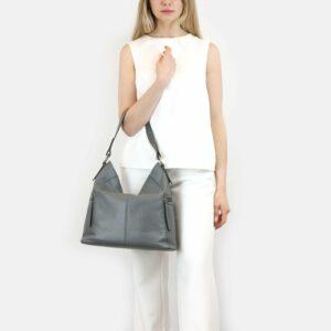 Функциональная серая женская сумка через плечо BRL-47452 229821