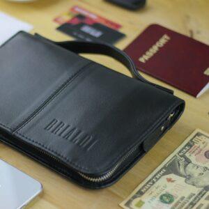 Удобный черный мужской портмоне клатч BRL-920 227507