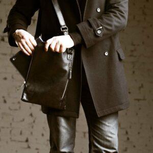 Деловая черная мужская сумка мессенджер BRL-1039 227566