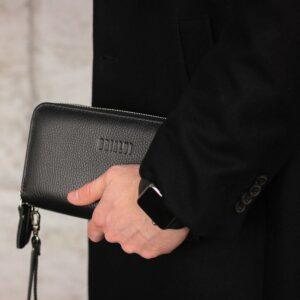 Модный черный мужской портмоне клатч BRL-43903 229075