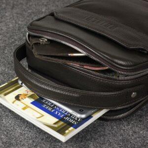Удобная коричневая мужская сумка через плечо BRL-34400 228941