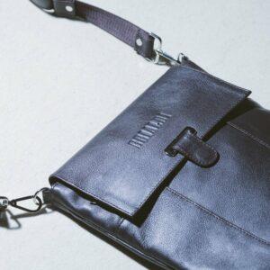 Уникальная коричневая мужская сумка мессенджер BRL-132 227384