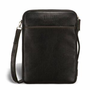 Кожаная черная мужская сумка мессенджер BRL-1022 229372