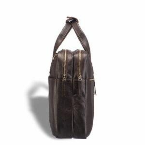 Кожаный коричневый мужской кейс для командировок BRL-12973 227937