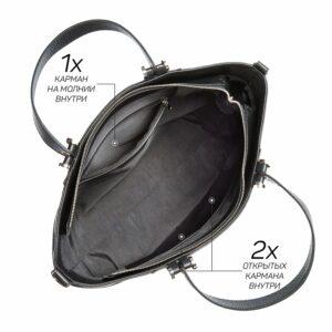 Стильная черная женская сумка через плечо BRL-47281 229777