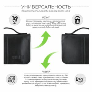 Удобный черный мужской портмоне клатч BRL-920 227510