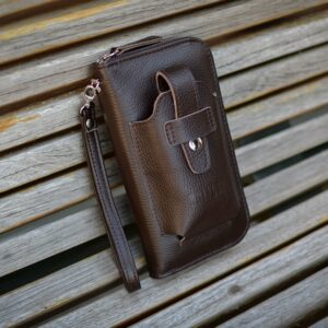 Кожаный коричневый мужской портмоне клатч BRL-32934 228865