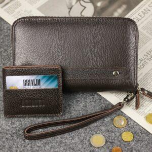 Неповторимый коричневый мужской портмоне клатч BRL-44371 229170