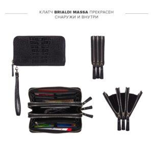 Стильный черный мужской портмоне клатч BRL-23063 228265