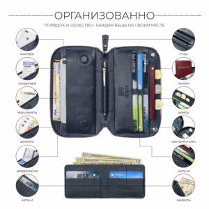 Уникальный синий мужской портмоне клатч BRL-23098 228324