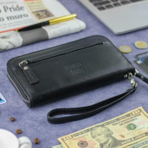 Неповторимый черный мужской портмоне клатч BRL-28616 229550
