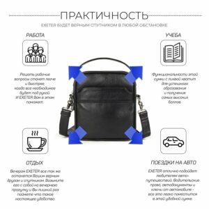 Деловая черная мужская сумка через плечо BRL-34399 229947