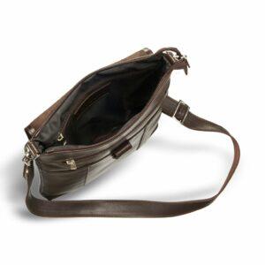 Уникальная коричневая мужская сумка мессенджер BRL-132 227378