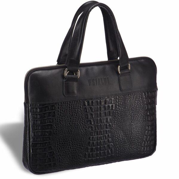 Солидная черная женская деловая сумка BRL-17810